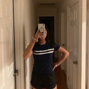Brandy Melville Navy Striped Shirt